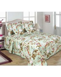 Turu Comforter Set of 5 Jade Garden,  green