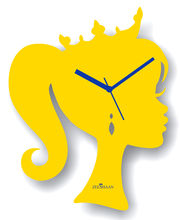 Zeeshaan Wall Clock ZEE319-4, yellow