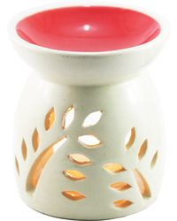 Brahmz Aroma Oil Burner Top Colour, ivory and red