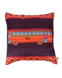 The Elephant Company Cushion Cover Transport Bus,  purple