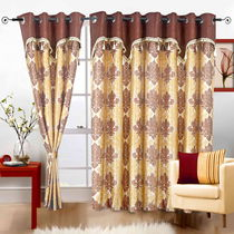 Cortina Royal Valance 5Ft Curtain,  coffee
