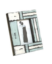 Aapno Rajasthan White And Blue Matte Contour Wooden Picture Frame