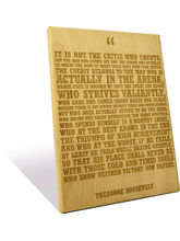 Engrave The Man In The Arena Plaque (Multicolor)
