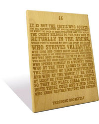 Engrave The Man in the Arena Plaque, multicolor