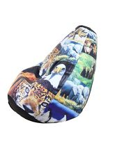 Stylish Comfortable Jumbo Bean Bag Jungle Theme-STRB067, multicolor