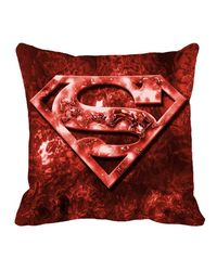 Warner Brother superman Cushion Cover 16 x 16 inch,  red