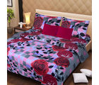 La Elite pure Thick Cotton Enticing Floral Print Double Bed Sheet, multicolor