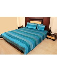 Banana Prints Set of Five Dupian Tagai Bed Cover - BC_ 3002,  blue