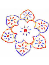 Ghasitaram Gifts Decorative Red And Blue Flower Ra...