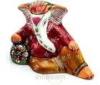 Handpainted Enamelled Metal Ganapati (Multicolor)