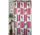 JBG Home Store Set of 2 Elegant Floral Print Designer Long Door Curtain(9 Ft) (Set of 2), pink
