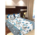 Story At Home 144 TC Pure Cotton Double Bedsheet With 2 Pillow Cover, blue