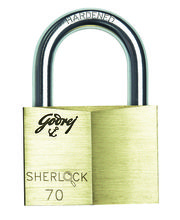 Godrej Sherlock 70 Mm (Blister) Locks, Golden
