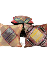 Sanganeri Design Brocade Cushion Cover Set -419 (Multicolor)