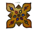 eCraftIndia Papier Mache Colorful Floor Rangoli with Gemstones, multicolor