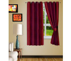 Story At Home 2pc Window curtain-5 feet, red