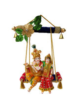 Creativity Centre Radha Krishna On Swing, multicolor