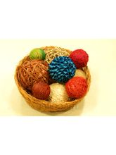 Rope Bright Dcor Balls In Coco Bowl (Beige)