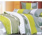 Valtellina Adorable Circle Print Double Bed Sheet, green