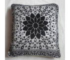 JBG Home Store Velvet Floral Design Cushion Covers ( Set of 5), black