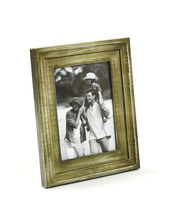 Aapno Rajasthan Light Olive Green Rustic Finish Wood Photo Frame
