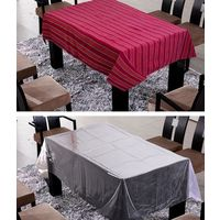 Freely Cotton Table Cover With Transprant Table Cover For 6 Seaters ( Buy 1 Get 1), multicolor