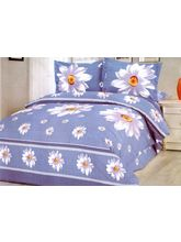 Exclusive Polycotton Velum Double Bedsheet With Two Pillow Covers SUN-66, Multicolor