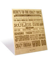 Engrave Crazy Ones Plaque (Multicolor)