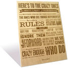Engrave Crazy Ones Plaque, multicolor