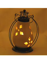 Pure White Ceramic Wind Lantern Tea Light Holder