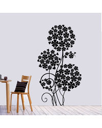 Creative Width Flower Tree Wall Decal, multicolor, small