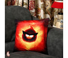 Angry Bird Velvet Cushion Cover (Multicolor)