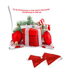 meSleep Quotes Christmas Digitally Printed Cushion Cover (16x16) - With 2 Pcs,  white