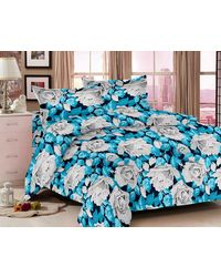 Valtellina Floral Bedsheet With 2 Pillow Cover (VB-802), multicolor