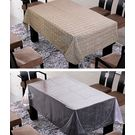 Freely Coffee Cotton Table Cover With Transprant Table Cover For 6 Seaters ( Buy 1 Get 1), multicolor