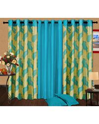 Cortina Candy Set Of 3- 9Ft Curtain,  coffee