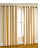 La Elite Eyelet Plain Long Door Curtain - 1 Pc, Be...