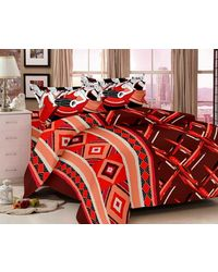 Valtellina Traditional Print Bedsheet With 2 Pillow Cover (VB-821), multicolor