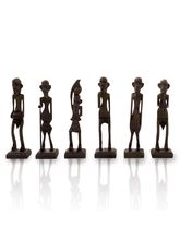 Little India Antique African Zulu Tribal Men Handm...