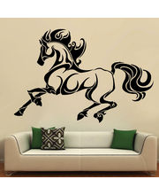 Creative Width Horse On Mission Wall Decal, Multicolor, Medium