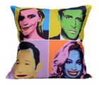 Me Sleep Hollywood Cushion Covers Digitally Printed - Set of 5, multicolor