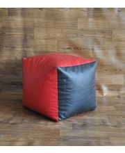 Style Homez L Square Ottoman Bean Bag - Filled With Beans, Multicolor
