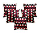 Story At Home Cushion Cover Set of 5, red