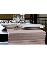 Rope Premium Talipot Table Runner - Pink, pink