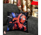 Spiderman Velvet Cushion Cover (Multicolor)