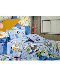 Pompe Kids Gang Single Bedsheet - Booty its me– Blue - K018, multicolor
