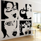 Creative Width Ladies Wall Decal, multicolor, small