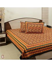Bed sheet in hues of Orange