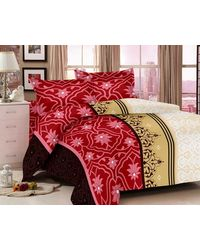 Valtellina Ethenic Print Bedsheet With 2 Pillow Cover (VB-822), multicolor