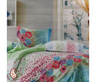 Damask Floral And Paisley Print Pure Cotton Bed Sheet Set BS139115, multicolor